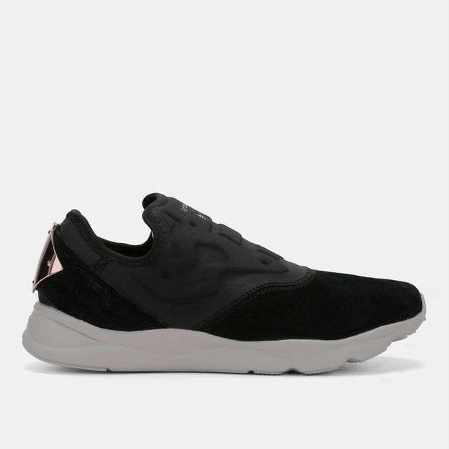 9a25ca4b2c5c Shop Black Reebok Furylite Slip On FBT Shoe for Womens by Reebok