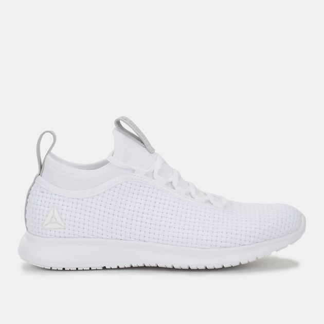 Shop White Reebok Plus Woven Runner Shoe for Womens by Reebok  c4fbf9f50