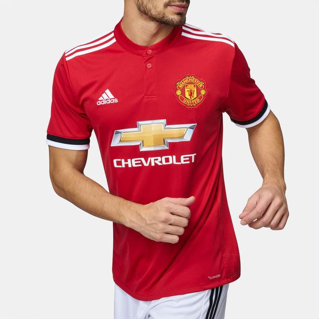 official photos 4856c 1f007 Shop Red adidas Manchester United Home Replica Jersey for ...
