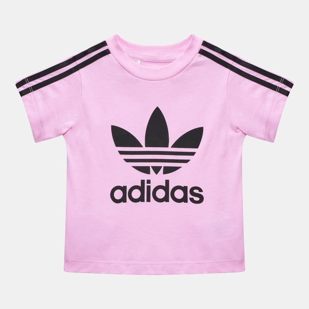 9225fde05f Shop Pink adidas Originals Kids' 3-Stripes Trefoil T-Shirt for Kids ...