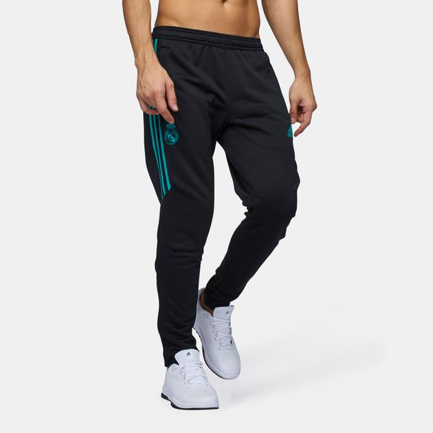 Shop Black adidas Real Madrid Replica Training Pants for
