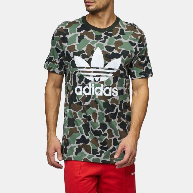 3b6acc09266ea Shop Multi adidas Originals Camouflage Trefoil T-Shirt for Mens by ...
