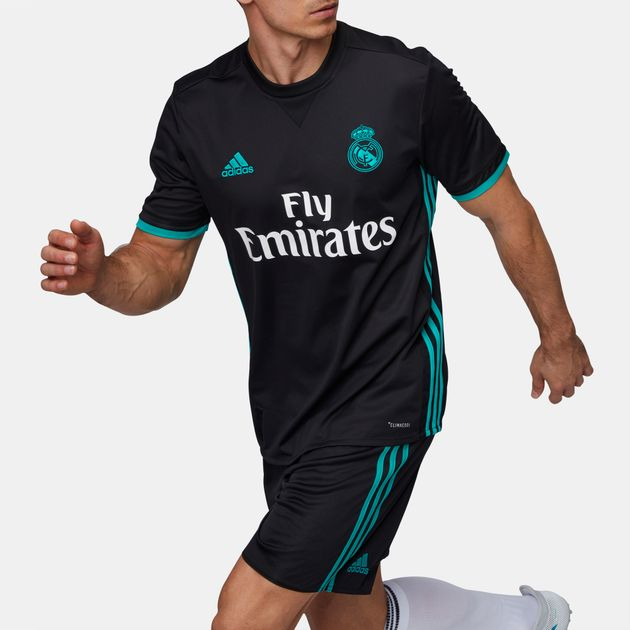 purchase cheap 29f06 d49ec Shop Black adidas Real Madrid Away Replica Jersey for Mens ...