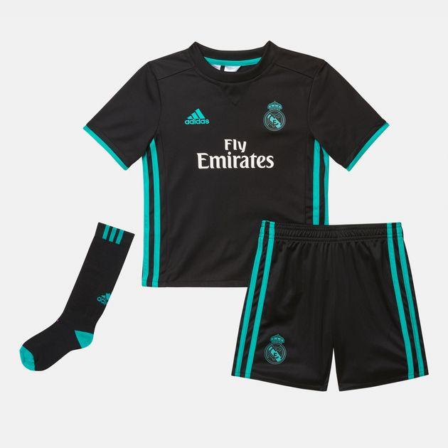 info for e862f f563f adidas Kids' Real Madrid Away Mini Football Kit | Football ...