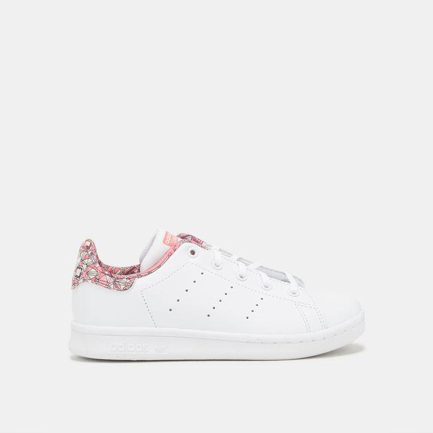 buy online c3e36 7fa81 Shop White adidas Originals Kids' Stan Smith Shoe for Kids ...