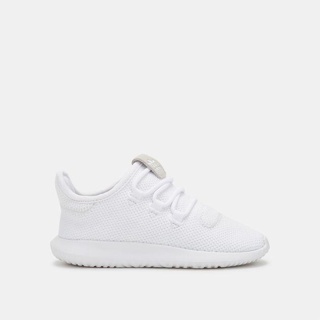 sale retailer bf3e0 b8c40 Shop White adidas Originals Kids' Tubular Shadow Shoe for ...