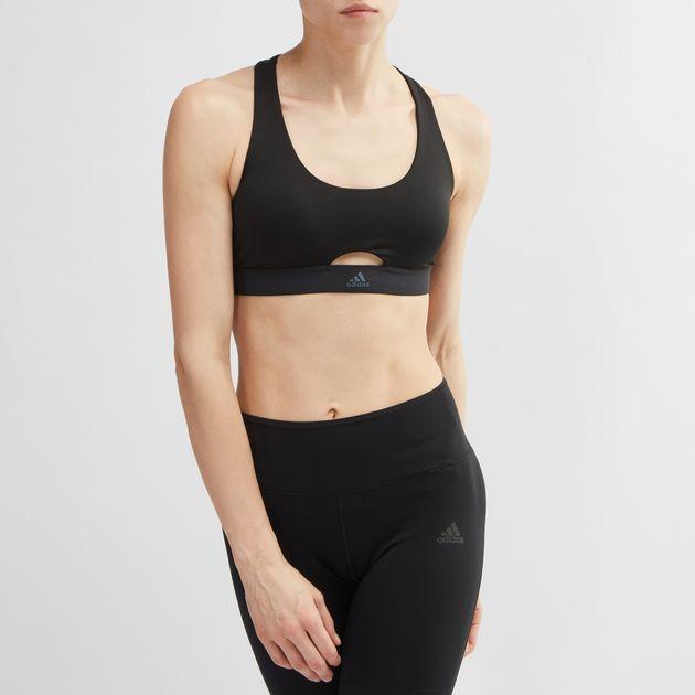 2bb2cdbb3cd54 Shop Black adidas All Me VFA Sports Bra for Womens by adidas