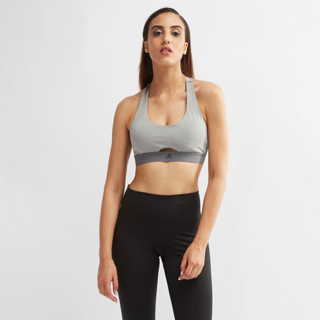 e8070cd07a Shop Grey adidas All Me VFA Sports Bra for Womens by adidas
