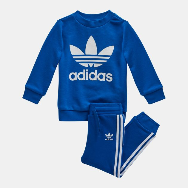 da9c309b6066 Shop Blue adidas Originals Trefoil Crew Set (Infant) for Kids by ...