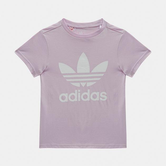 9715fe3ac Shop Pink adidas Originals Kids  adicolor Trefoil T Shirt for Kids ...