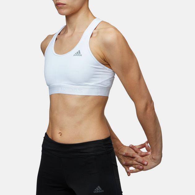 42e98dad418fc Shop White adidas Alphaskin Training Sports Bra for Womens by adidas ...