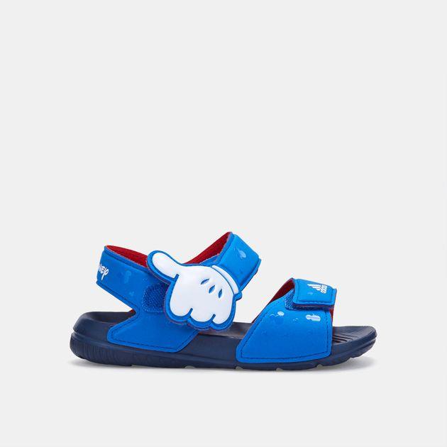 Shop Blue adidas Kids' Disney Mickey AltaSwim Sandals for ...