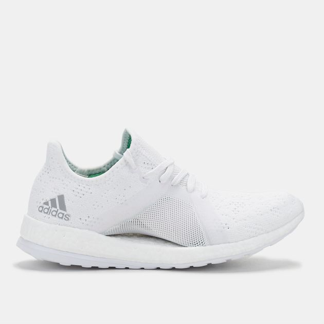 2c1560963e92 Shop White adidas PureBOOST X Element Running Shoe for Womens by ...