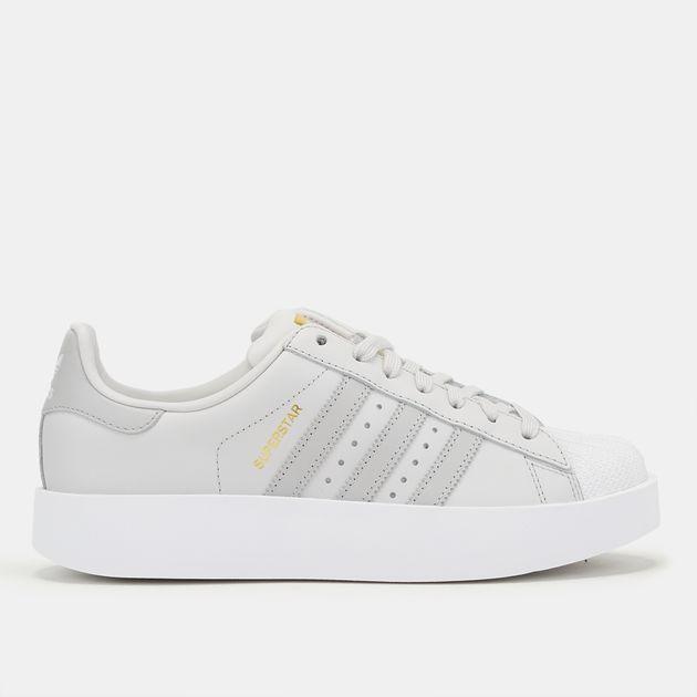 various colors 5c259 8297f Shop Grey adidas Originals Superstar Bold Platform Shoe for ...