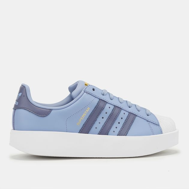7bc11b6d0d06 Shop Blue adidas Originals Superstar Bold Platform Shoe for Womens ...