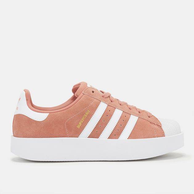 b4a599066eb8 Shop Pink adidas Originals Superstar Bold Platform Shoe for Womens ...