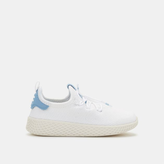 95718951beee9 Shop White adidas Originals Kids  Pharrell Williams Tennis HU Shoe ...