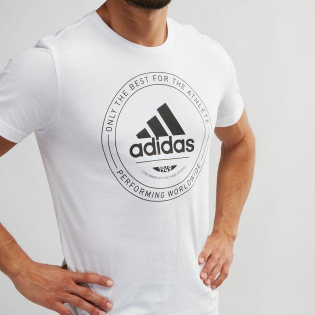 Shop White adidas Adi Emblem T Shirt for Mens by adidas   SSS