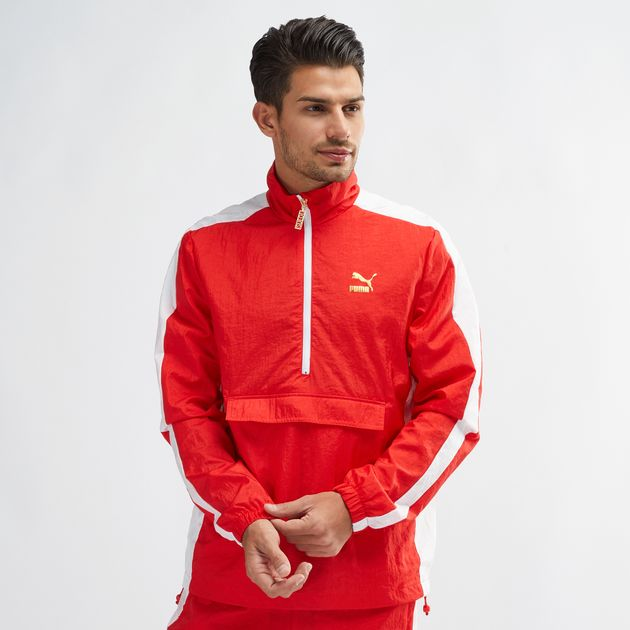 03d8797e17cd2d Shop Red PUMA T7 BBoy Track Jacket for Mens by PUMA