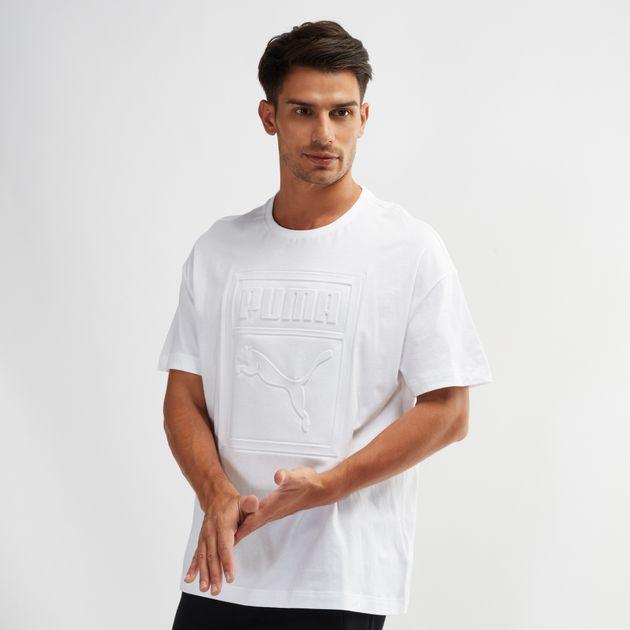 6bffb808b24 Shop White PUMA Archive Embossed Print T-Shirt for Mens by PUMA | SSS