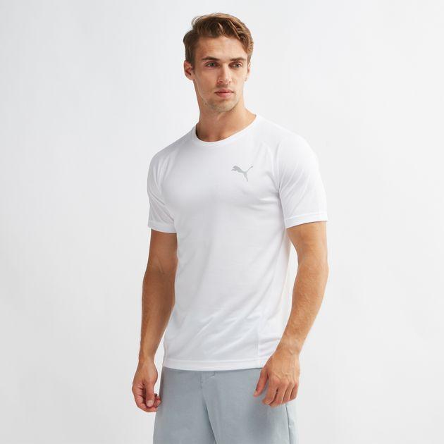 153ca6ca2470 Shop White PUMA Evostripe Move Vent T-Shirt for Mens by PUMA