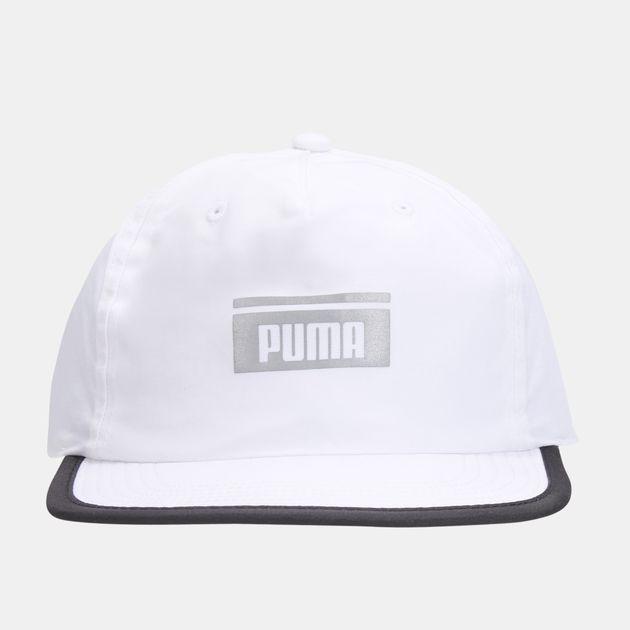 9058e6dfd2e PUMA Pace Flat Brim Cap - White