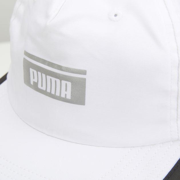 f0a485e7ee8d2 PUMA Pace Flat Brim Cap - White