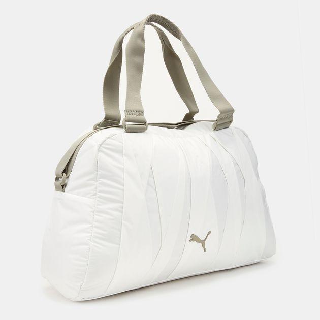 b06c9e0d627 Shop White PUMA En Pointe Sports Bag for Womens by PUMA