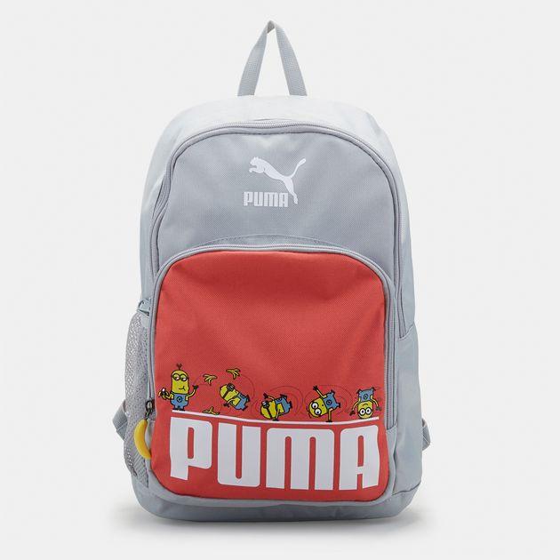 69025d3de9b8 Shop Orange PUMA Kids  Minions Backpack for Kids by PUMA