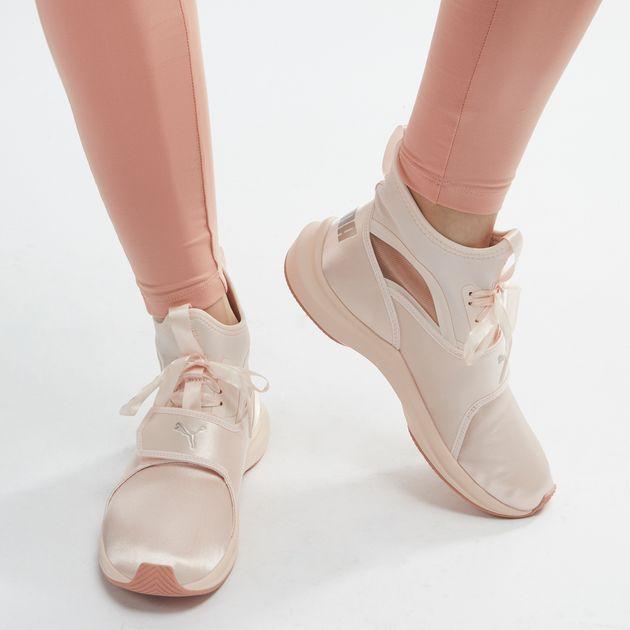 c9e87f73a69 Shop White PUMA En Pointe Phenom Satin Training Shoe for Womens by ...