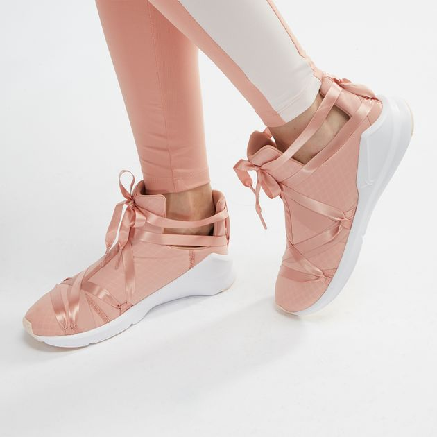 Shop Pink PUMA Fierce Rope Satin En Pointe Shoe for Womens by PUMA  302b0bdf3