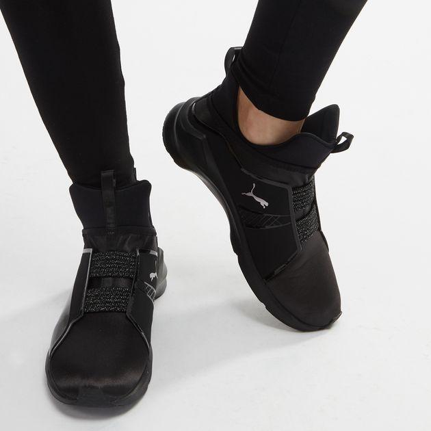 3eaf0fe08a33 Shop Black PUMA En Pointe Fierce Satin Training Shoe for Womens by ...