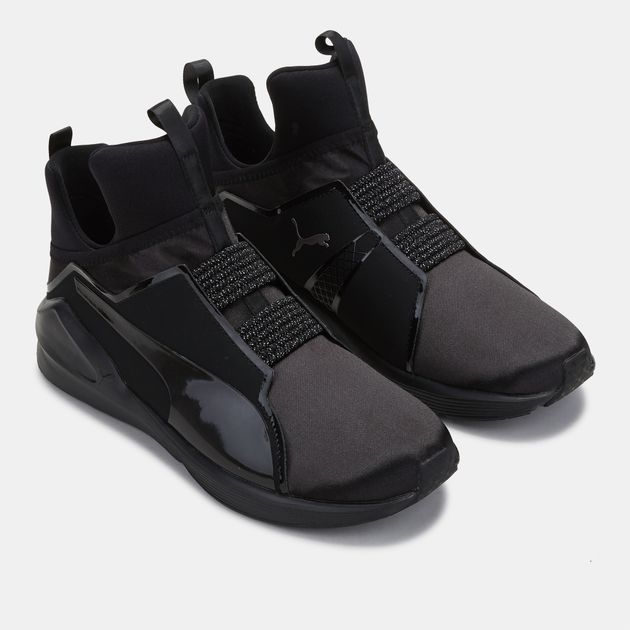 80361e75b78ab6 Shop Black PUMA En Pointe Fierce Satin Training Shoe for Womens by ...