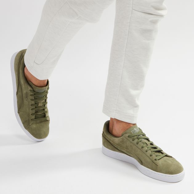 wholesale dealer b7f0c e9754 Shop Green PUMA Suede Classic Exposed Seams Shoe for Mens by ...