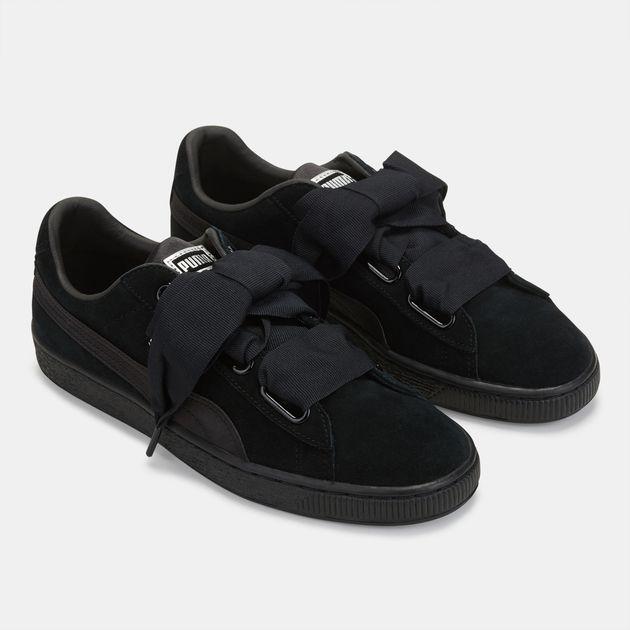 ad038e24407e02 Shop Black PUMA En Pointe Suede Heart Shoe for Womens by PUMA