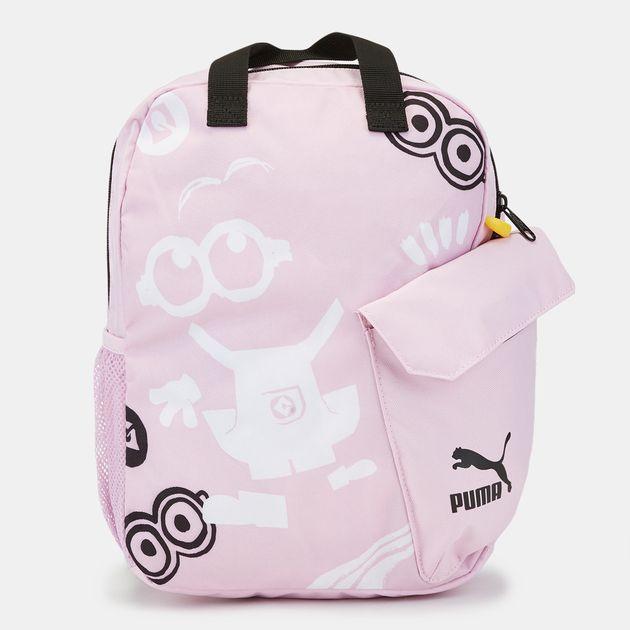 d0d7d565e9 Shop Pink PUMA Kids' Minions Backpack | Backpacks and Rucksacks ...