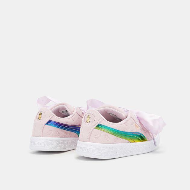 PUMA Kids' Minions Suede Heart Fluffy Shoe | Sneakers