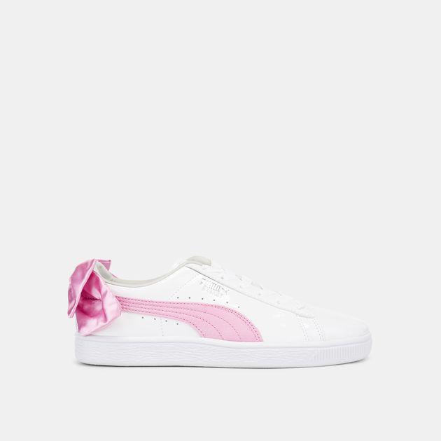 a7f9534f1f8157 PUMA Kids  Basket Bow Patent Shoe