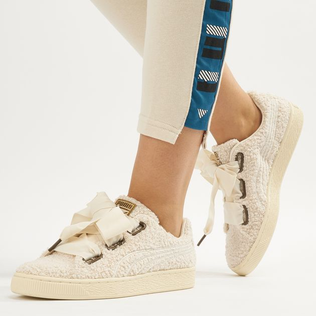 new concept 73be4 ed2e4 PUMA Basket Heart Teddy Shoe | Sneakers | Shoes | Women's ...