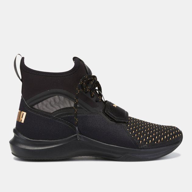 2c81ef2c3f5f7c Shop Black PUMA Phenom Varsity Training Shoe