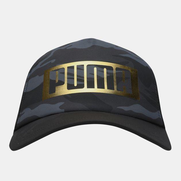 PUMA Camo Foil Trucker Cap - Black 8de716cbaa9