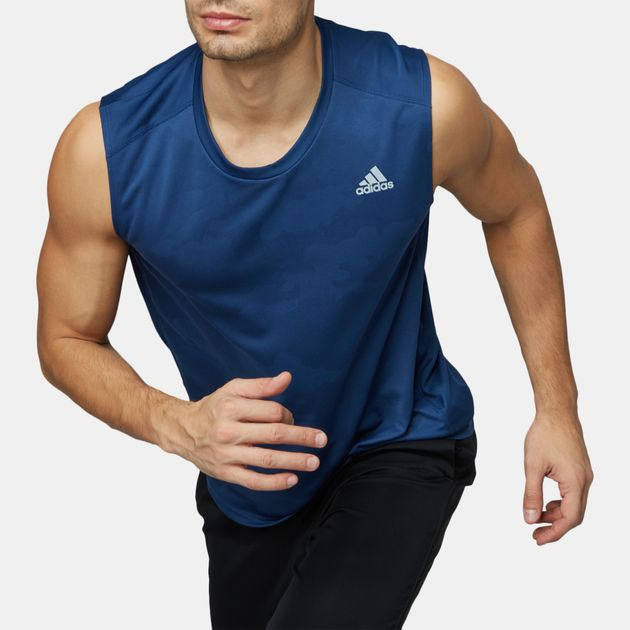 99278c8da0720 Shop Blue adidas Response Running Tank Top for Mens by adidas