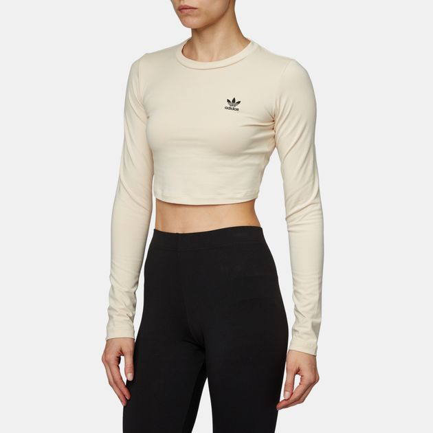a42b4e3cd341 adidas Originals Styling Complements Cropped Long Sleeve T-Shirt, 959311