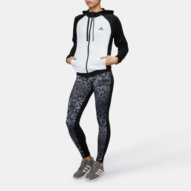 b3da26f5957 Shop Black adidas Hoodie and Leggings Tracksuit for Womens by adidas ...