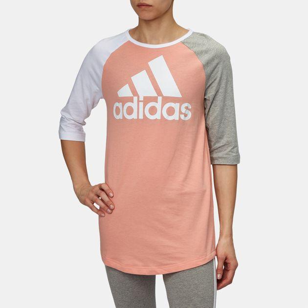 98c648ae7a8 Shop Pink adidas Sport ID Baseball T-Shirt for Womens by adidas | SSS