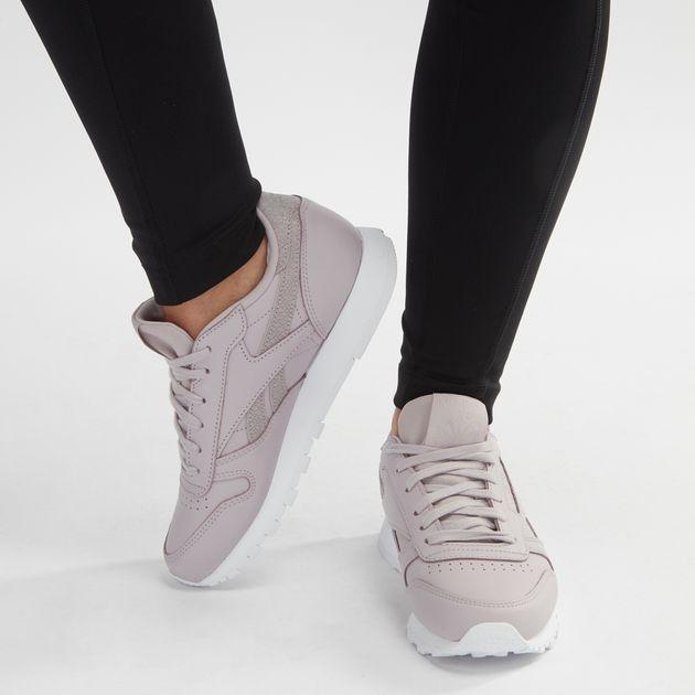 f725cb0f1855f Shop Purple Reebok Classic Leather Pastel Shoe for Womens by Reebok ...