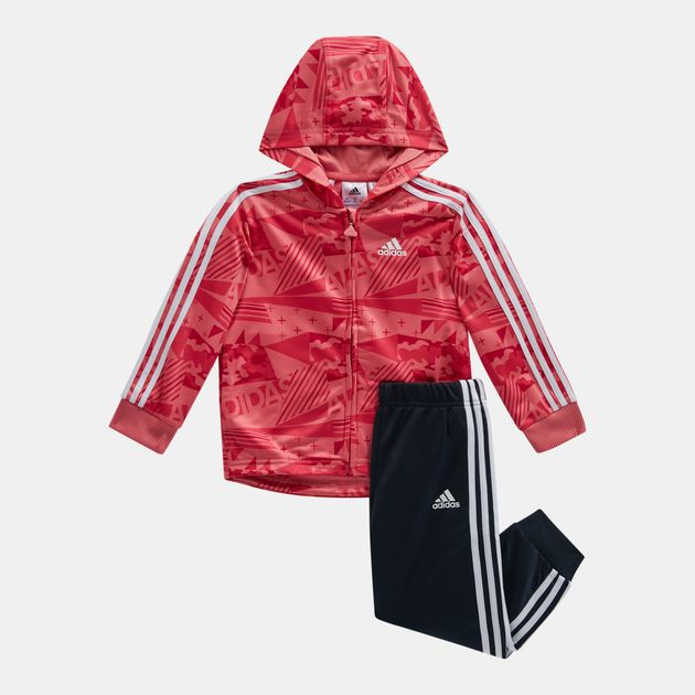 Shop Pink adidas Kids  Shiny Hooded Jogger (Infants) for Kids by ... ec5c358ec8