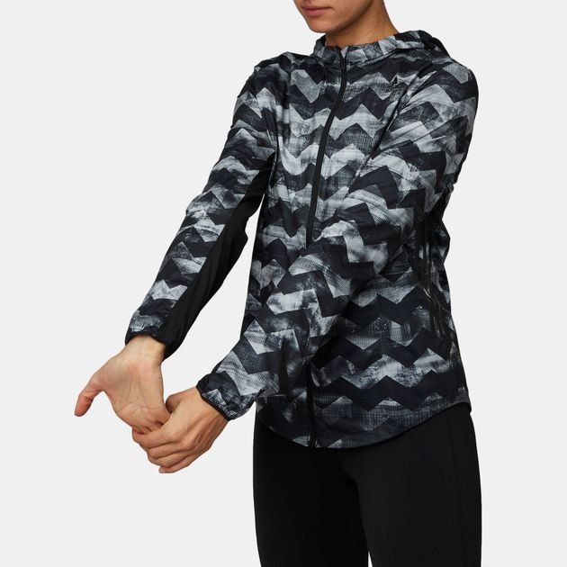 4e9e91350269 Shop Black adidas Adizero Track Running Jacket for Womens by adidas ...