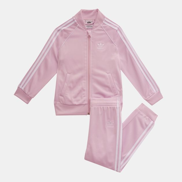 fbbbc140c419 Shop Pink adidas Originals Kids  Trefoil SST Tracksuit for Kids by ...