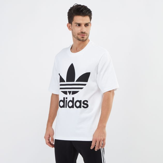 db7319982b2f1f adidas Originals Adicolor Oversized Trefoil T-Shirt, T-Shirts, Tops ...
